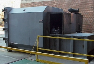 Self contained trash compactor